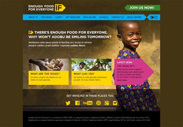 Enough Food IF homepage