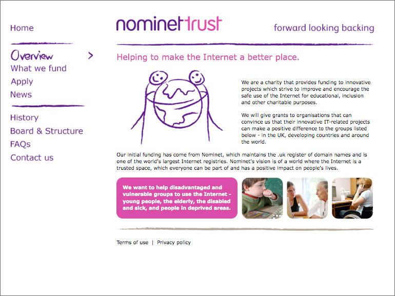 Nominet Homepage design