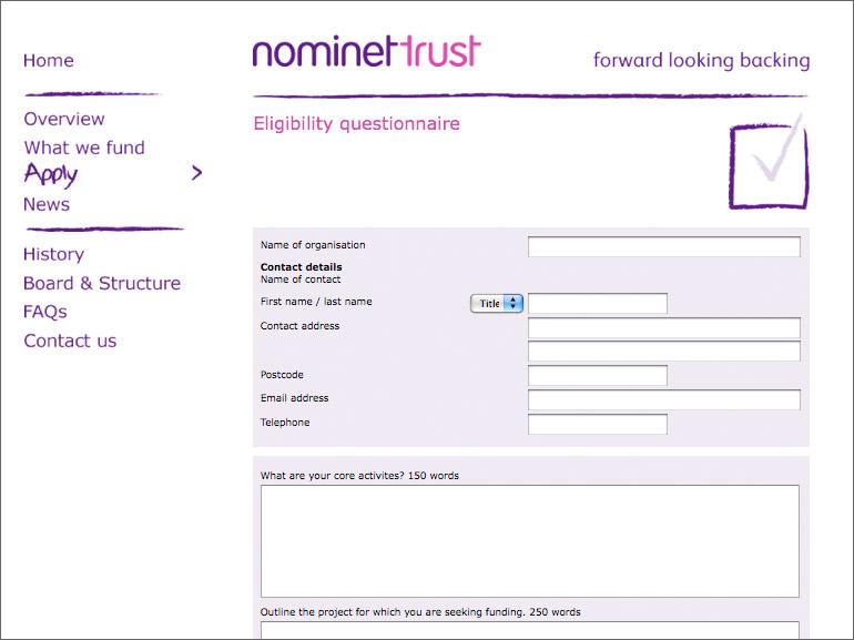 Nominet Questionnaire design