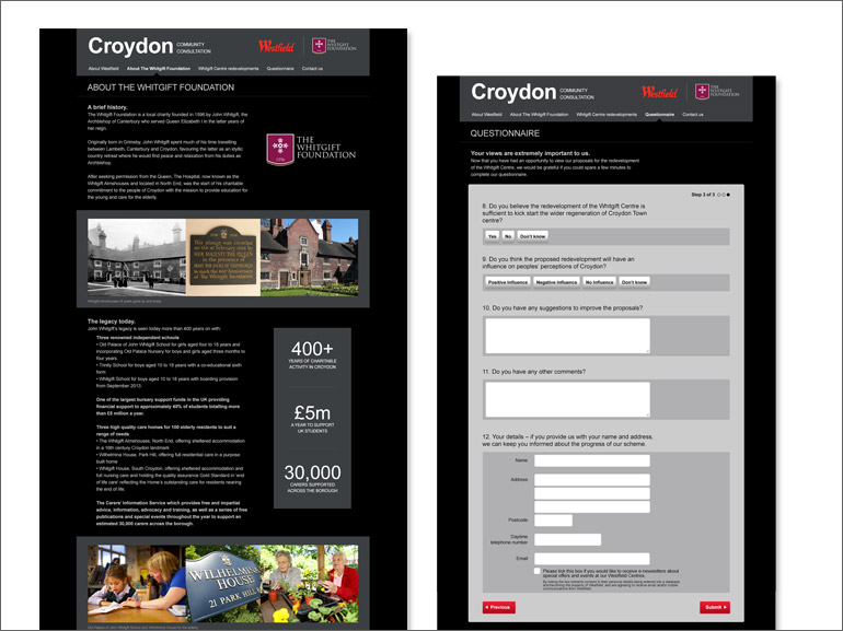 Westfield website designs